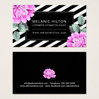 Watercolour Flowers Business Cards