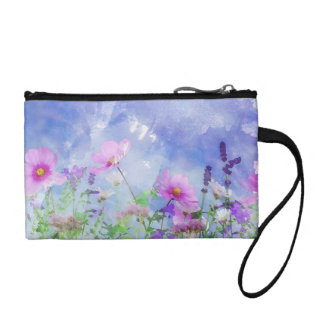 Watercolour Flowers Coin Purse