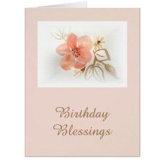 Watercolour Flowers Decorative Art Card