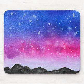 Watercolour Galaxy Mouse Pad
