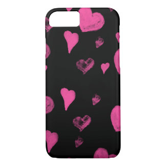 Watercolour Hearts iPhone 7 Cover