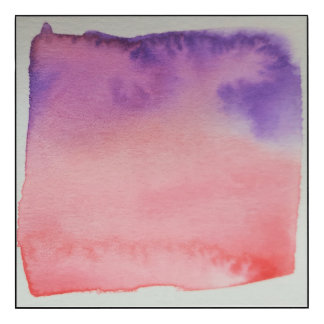 Watercolour Horizons Pink Purple Wall Panel