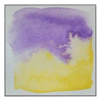 Watercolour Horizons Yellow Purple Wall Panel