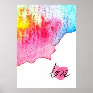 watercolour love poster