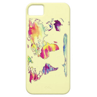 Watercolour map of world phone case iPhone 5 cover