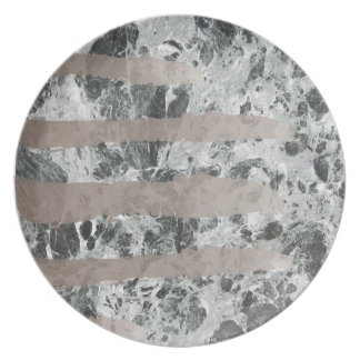 Watercolour marble party plates