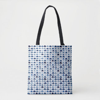 Watercolour, navy pattern marine inspired tote bag