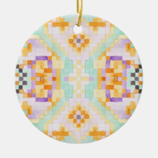 Watercolour pastel ceramic ornament
