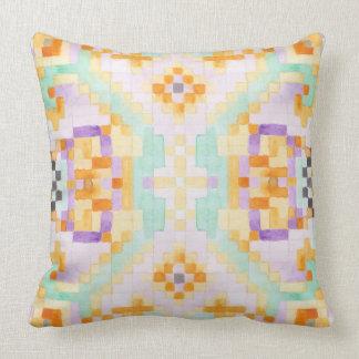 Watercolour pastel cushion
