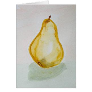 Watercolour Pear Greeting Card