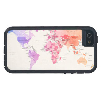 Watercolour Political Map of the World iPhone 5 Covers