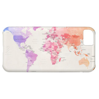 Watercolour Political Map of the World iPhone 5C Case