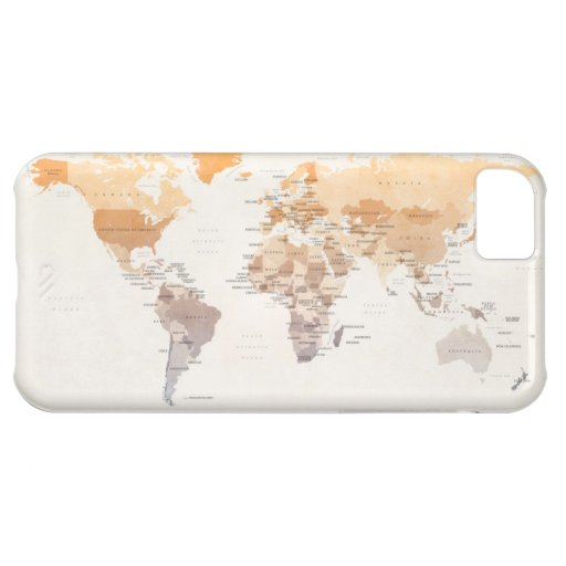 Watercolour Political Map of the World iPhone 5C Covers