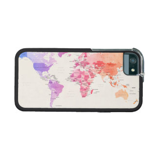 Watercolour Political Map of the World iPhone 5 Cover