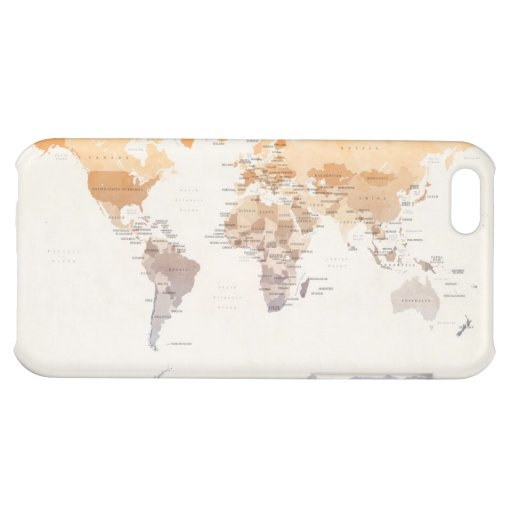 Watercolour Political Map of the World iPhone 5C Cases