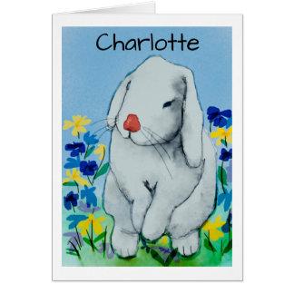 Watercolour Rabbit Card