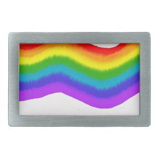 Watercolour rainbow colours belt buckles
