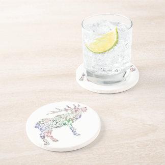 Watercolour Reindeer Drink Coasters