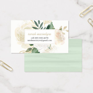 Watercolour Roses Calling Cards