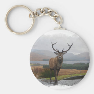 Watercolour Stag Key Ring