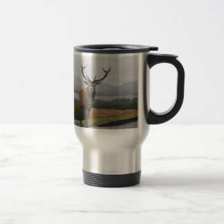 Watercolour Stag Travel Mug