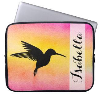 Watercolour Textured Hummingbird Sleeve