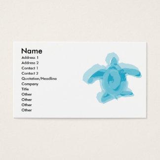 Watercolour Turtle Profile Card