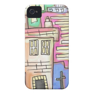 Watercolour Village iPhone 4 Covers