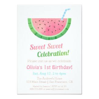Watermelon Birthday Invitations & Announcements   Zazzle.com.au
