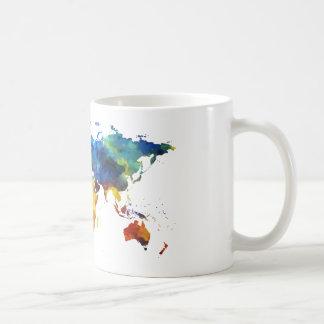 Watercolour World Map Mug
