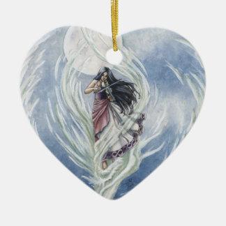 Waterdance Ceramic Heart Decoration