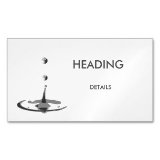 WaterDrop Magnetic Business Card