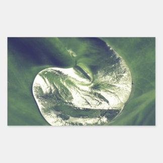 Waterdrop Rectangular Sticker