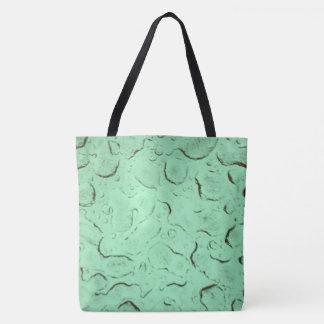 Waterdrops Spring in Green Tote Bag