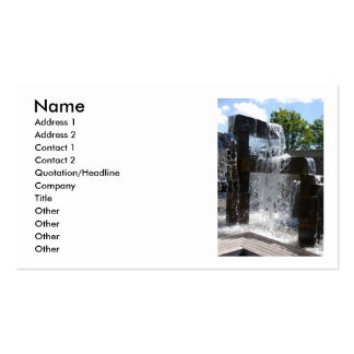 Waterfall070310, Name, Address 1, Address 2, Co... Pack Of Standard Business Cards