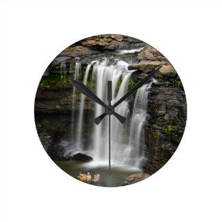 Waterfall 2 round clock