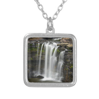 Waterfall 2 silver plated necklace