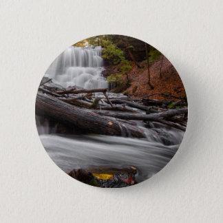 Waterfall 3 6 cm round badge