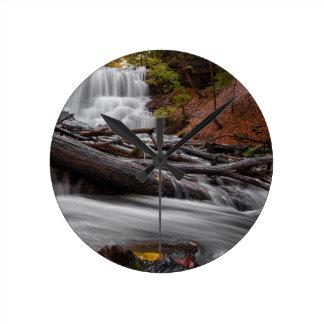 Waterfall 3 round clock