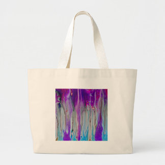 Waterfall Abstract Large Tote Bag