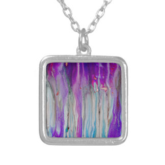 Waterfall Abstract Silver Plated Necklace
