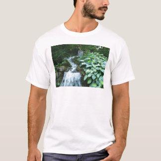 Waterfall and Hostas T-Shirt