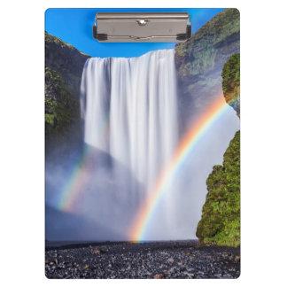 Waterfall and rainbow clipboard