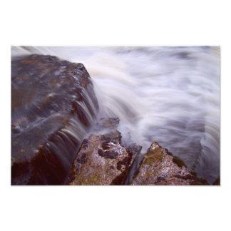 Waterfall and rock study photographic print