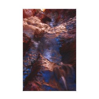 Waterfall at Arizona Hot Springs Gallery Wrap Canvas