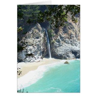 Waterfall at Big Sur Card