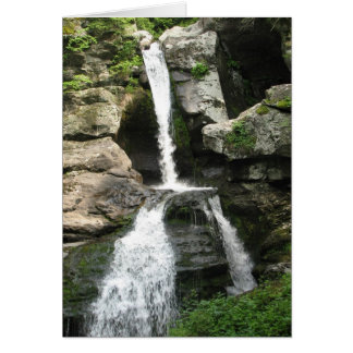 Waterfall at Kent Falls, Connecticut - Card