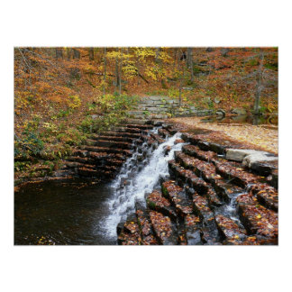 Waterfall at Laurel Hill State Park II Poster