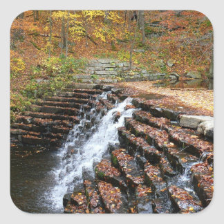 Waterfall at Laurel Hill State Park II Square Sticker