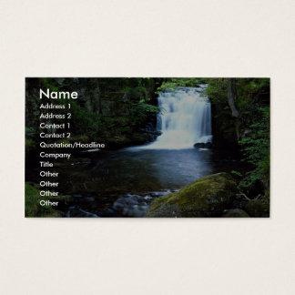 Waterfall at Watersmeet, North Devon, England Business Card